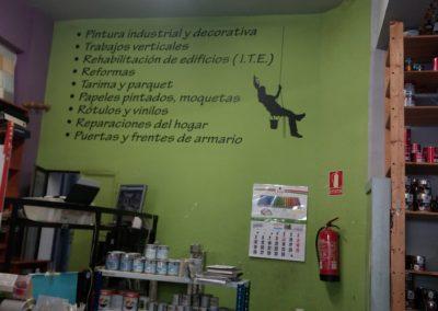 cartel interior de tienda Decopinturas